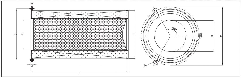 Technical drawing of jet cartridge
